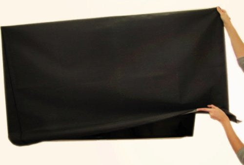 "Large Flat Screen TV (65"") Marine Grade Nylon Dust Black Color Cover"