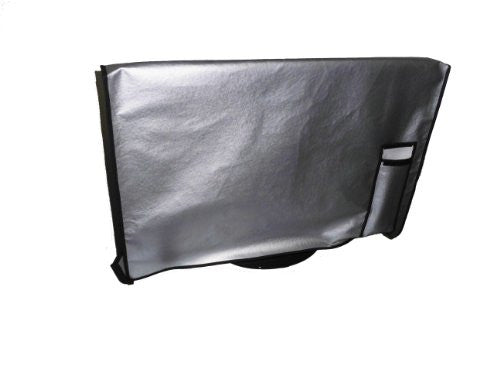 "Large Flat Screen TV / LED / HDTV Vinyl Padded Dust Covers With Remote Control Pocket For Protection from Weather Elements Ideal for Outdoor Locations Such as Restaurants, Hotels, Marinas or Poolside Locations (47"" Cover - 43"" x 4"" x 25.75"")"
