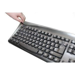Biosafe Anti Microbial Keyboard Cover for Logitech K800 Keyboard, Keeps Out Dirt Dust Liquids and Contaminants, Keyboard Not Included