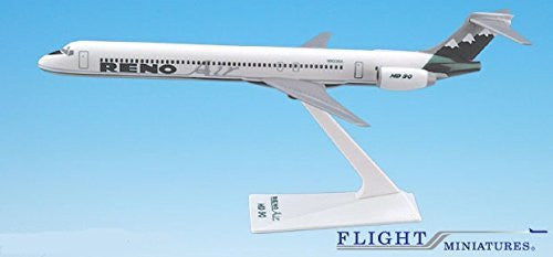 Reno Air MD-90 Airplane Miniature Model Plastic Snap Fit 1:200 Part# AMD-09000H-002