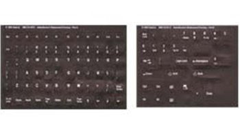 Opaque Dvorak English Keyboard Label / Stickers White Characters on Black Non Transparent Background