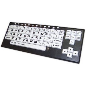 Chester Creek Technologies Large Print on Larger Key Keyboard VisionBoard2 - Keyboard - USB - Black Frame, Black Jumbo Letters on White Keys (VB2)