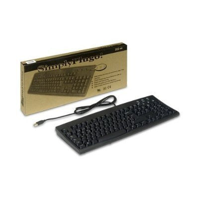 Keyboard SimplyPlugo Brand by Solidtek - Standard US English Black Wired USB Keyboard