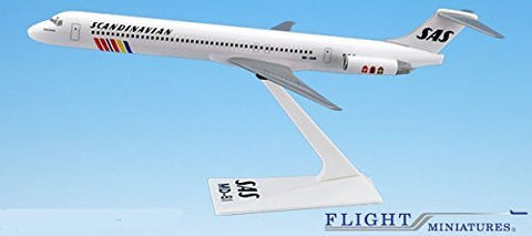 SAS Scandinavian McDonnell Douglas MD-80 Airplane Miniature Model Snap Fit 1:200 Part#AMD-08000H-014