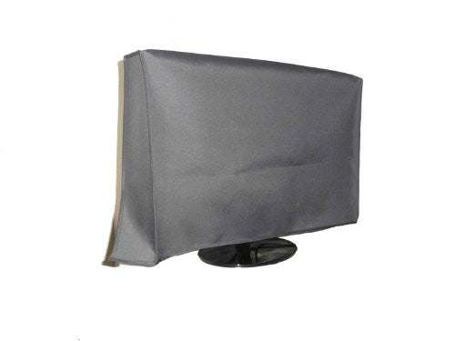 "Large Flat Screen TV (39"") Vinyl Padded Dust Silver Color Covers Ideal for Outdoor Locations Such as Restaurants, Hotels, Marinas or Poolside Locations (39"" Cover - 35.75"" x 3.75"" x 21.5"")"