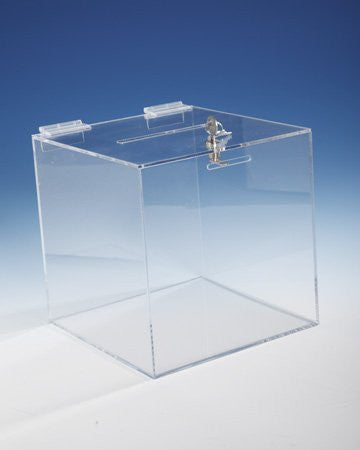 Clear Ballot Box / Suggestion Box 8 inch Lockable by viziflex seels