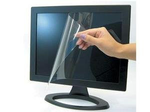 Computer Screen Protector - Plastic - Clear - Display Size Support: 22in Lcd - W