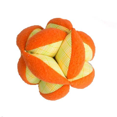 "Handmade Plush Puzzle Ball - Measures (6"" x 6"" x 6"") - Made by Women Artisans"