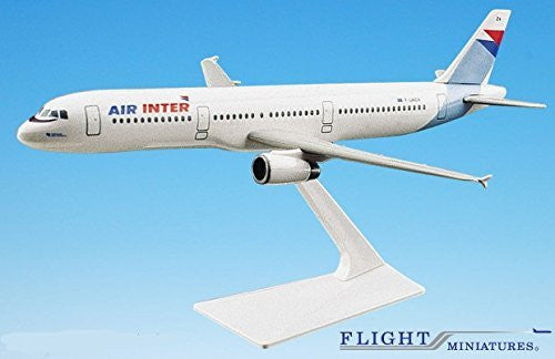Air Inter ( French Domestic Airline ) A321-200 Airplane Miniature Model Plastic Snap-Fit 1:200 Part# AAB-32100H-002