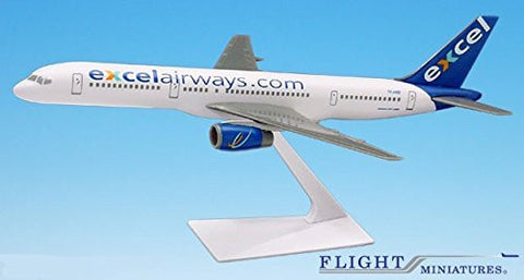 Excel Airways Boeing 757-200 Airplane Miniature Model Plastic Snap Fit 1:200 Part# ABO-75720H-057