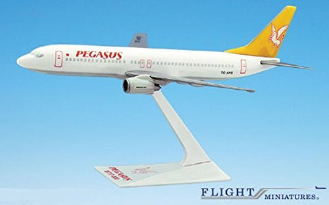 Pegasus 737-800 Airplane Miniature Model Plastic Snap-Fit 1:200 Part# AAB-31020H-021