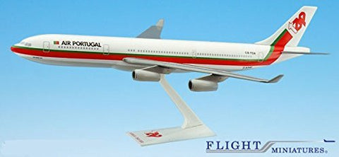 TAP Air Portugal A340-300 Airplane Miniature Model Plastic Snap Fit 1:200 Part# AAB-34030H-007