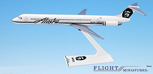 Alaska (91-Cur) MD-80 Airplane Miniature Model Plastic Snap-Fit 1:200 Part# AMD-08000H-016