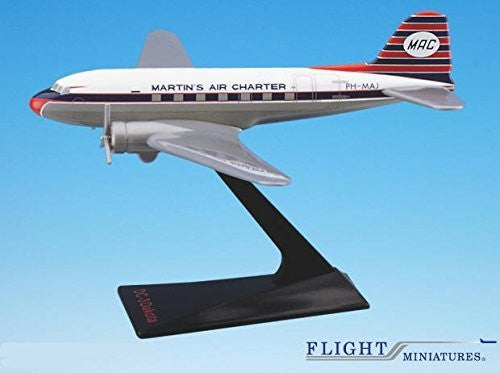 Martin's Air Charter DC-3 Airplane Miniature Model Plastic Snap Fit 1:130 Part# ADC-00300D-004