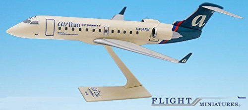 Air Tran Jet Connect CRJ200 Airplane Miniature Model Plastic Snap-Fit 1:200 Part# ACA-20000C-008