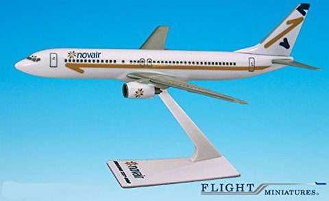 Novair (97-04) Boeing 737-800 Airplane Miniature Model Plastic Snap Fit 1:250 Part# ABO-73780H-021