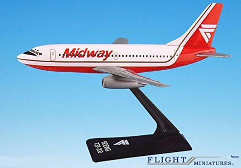 Midway (84-93) Boeing 737-200 Airplane Miniature Model Plastic Snap Fit 1:180 Part# ABO-73720F-002