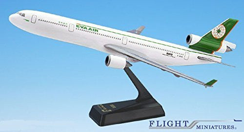 EVA Air Taiwanese Airline MD-11 Airplane Miniature Model Plastic Snap-Fit 1:200 Part# AMD-01100H-003