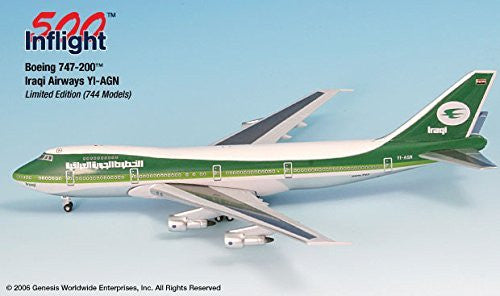 Iraqi Airways YI-AGN 747-200 Airplane Miniature Model Metal Die-Cast 1:500 Part# A015-IF5742007