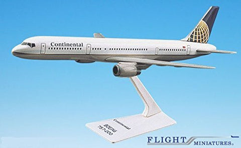 Continental (91-10) Boeing 757-200 Airplane Miniature Model Plastic Snap Fit 1:200 Part# ABO-75720H-022