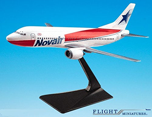 Novair - U.K. 737-400 Airplane Miniature Model Plastic Snap Fit 1:185 Part# ABO-73740G-001