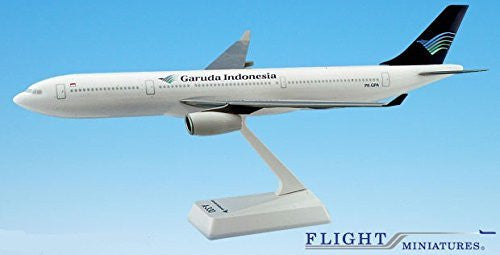 Garuda Indonesia A330-300 Airplane Miniature Model Plastic Snap-Fit 1:200 Part# AAB-33030H-005
