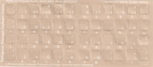 f0a0f7e482f Portuguese Transparent Keyboard Stickers White