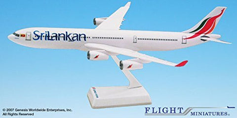 Sri Lankan (99-Cur)Airbus A340-300 Airplane Miniature Model Plastic Snap Fit 1:200 Part# AAB-34030H-020