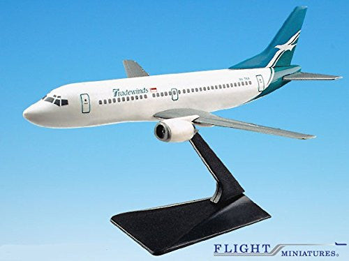 Tradewinds 737-300 Airplane Miniature Model Plastic Snap Fit 1:180 Part# ABO-73730F-007