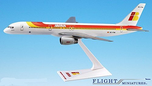 Iberia Boeing 757-200 Airplane Miniature Model Snap Fit 1:200 Part# ABO-75720H-031