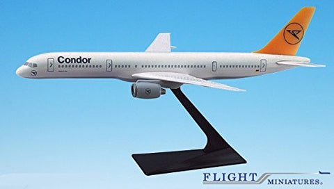 Condor 757-200 Airplane Miniature Model Plastic Snap-Fit 1:200 Part# ABO-75720H-038