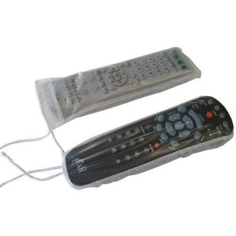 "Disposable TV Remote Transparent Covers - Disposable Transparent Remote Control Protector Covers from Germs, Microbes, Liquids, Scratches, Oily Finger Prints - Package of 25 - Measures 8.5"" X 3"" each"