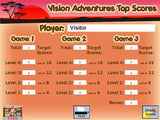 Vision Adventures - Games for Beginning Readers to Develop Eye Movement Skills - CD-ROM (Windows)