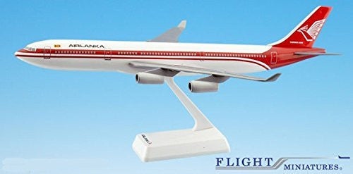 Air Lanka (79-99) Airbus A340-300 Airplane Miniature Model Plastic Snap-Fit 1:200 Part#AAB-34030H-011