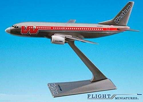 "Western ""Bare Metal"" 737-300 Airplane Miniature Model Plastic Snap-Fit 1:200 Part# ABO-73730H-004"