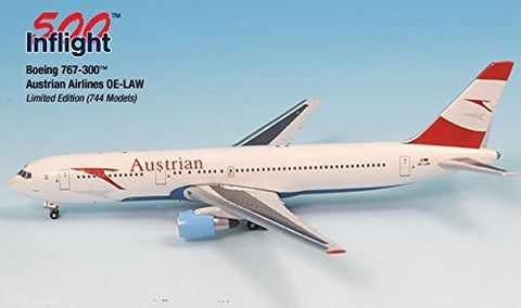 Austrian Airways OE-LAW 767-300ER Airplane Miniature Model Metal Die-Cast 1:500 Part# A015-IF5763002