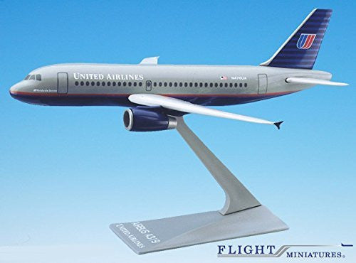 United (93-04) Airbus A319-100 Airplane Miniature Model Plastic Snap-Fit 1:200 Part#AAB-31900H-002