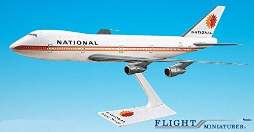 National (67-80) 747-100/200 Airplane Miniature Model Plastic Snap-fit 1:250 Part# Abo-74710i-021