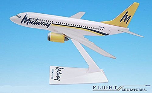 Midway (93-01) 737-700 Airplane Miniature Model Snap-Fit 1:200 Part# ABO-73770H-007