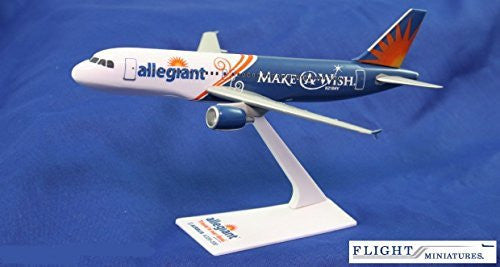 Allegiant Air Make-A-Wish A320-200 Airplane Miniature Model Plastic Snap-Fit 1:200 Part# AAB-32020H-062