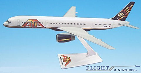 ATA (01-Cur) 757-200 Airplane Miniature Model Plastic Snap-Fit 1:200 Part# ABO-75720H-051