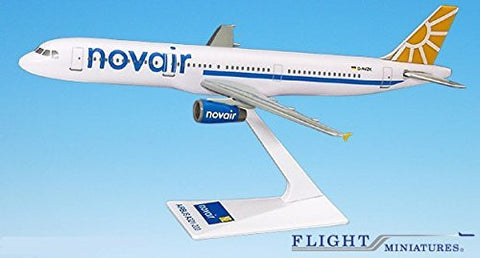 Novair (04-Cur) A321-200 Airplane Miniature Model Plastic Snap Fit 1:200 Part# AAB-32100H-012