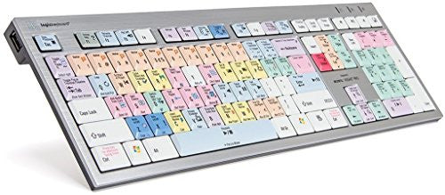 Logickeyboard designed for Magix Vegas Pro 15- PC Slim Line Keyboard- Windows 7-10-Part: LKBU-VEGAS-AJPU-US