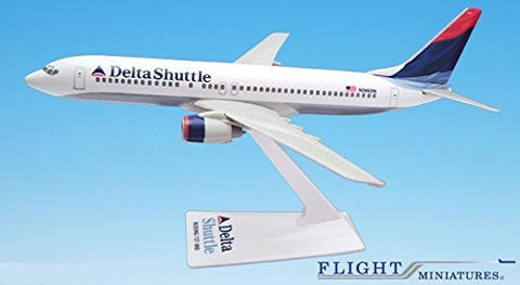 Delta Shuttle (00-07) 737-800 Airplane Miniature Model Plastic Snap-Fit 1:200 Part# ABO-73780H-022