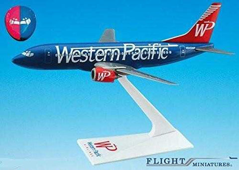 "Western Pacific ""Split"" 737-300 Airplane Miniature Model Plastic Snap-Fit 1:200 Part# ABO-73730H-010"