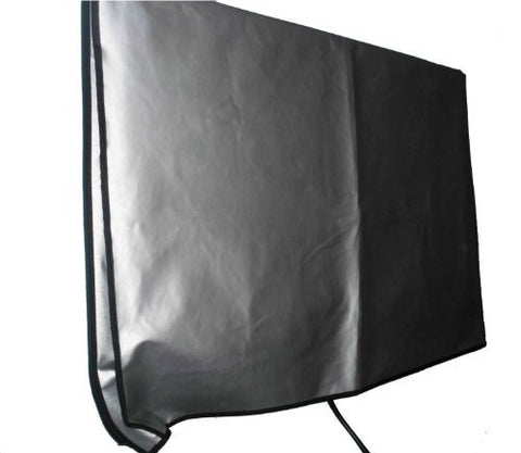 "Large Flat Screen TV (65"") Vinyl Padded Dust Sliver Color Covers Ideal for Outdoor Locations Such as Restaurants, Hotels, Marinas or Poolside Locations (65"" Cover - 60"" x 4"" x 35.5"")"