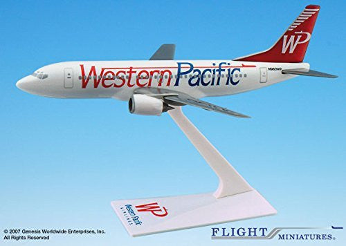 Western Pacific Thrifty 737-300 Airplane Miniature Model Plastic Snap-Fit 1:200 Part#ABO-73730H-011