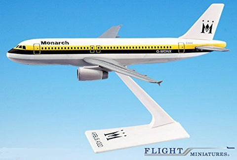 Monarch British Airline (84-02) A320-200 Airplane Miniature Model Plastic Snap-Fit 1:200 Part# AAB-32020H-012