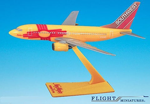 Southwest New Mexico 737-700 Airplane Miniature Model Plastic Snap Fit 1:200 Part# ABO-73770H-005