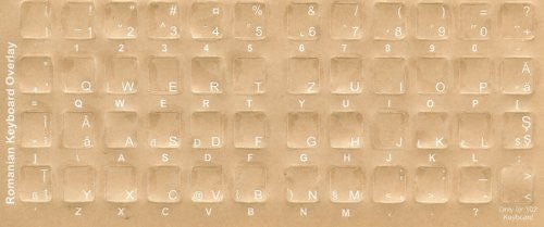 Romanian Keyboard Stickers - Labels - Overlays